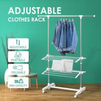 Foldable Clothes Rack 3-Tier Airer Portable Garment Drying Hanger Dryer Stand