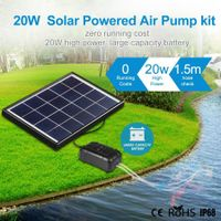 20W Solar Powered Panel Air Oxygenator Pump for Fish Pond Outdoor Pool