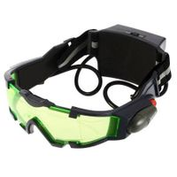 Adjustable Elastic Band Night Vision Goggles Glasses with Green Lens