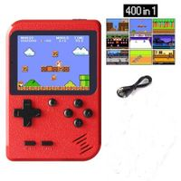 Handheld Game Console, Retro Mini Game Player with 400 Classical FC Games 2.8-Inch Color Screen Support for Connecting TV and Two Players 800mAh Rechargeable Battery Present for Kids and Adult