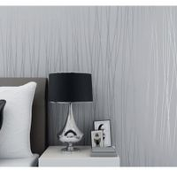3D Self Adhesive Non-Woven Wall Paper 53CMX5M Silver Grey