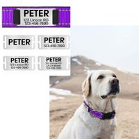 Personalised Dog Collar Engraved with Name Plate Reflective Nylon Pet ID Collars
