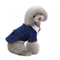 Pet stylish suit bow tie costume XL