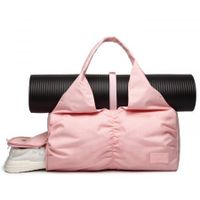 Travel Yoga Gym Bag for Men and Women with Shoes Compartment col. PINK