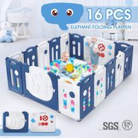 16-Panel Elephant Design Baby Toddler Safety Gate Playpen