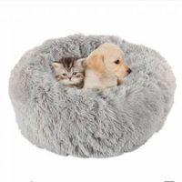 PV Velvet Plush pet Kennel bed 50cm x 20cm for under 10kg Col. Grey