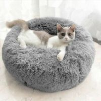 PV Velvet Plush pet Kennel bed 70cm x 26 cm for under 30 kg Col. Grey