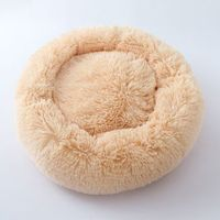 PV Velvet Plush pet Kennel bed 50cm x 20cm for under 10kg Col. Champagne