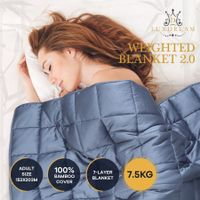 Luxdream 7 Layer Calming Weighted Blanket 100% Bamboo Cover for Adults 152x203cm 7.5kg
