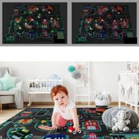Play Rug Great Fun Educational Road Traffic With LED  Play Mat for Boys Girls  Home Deco 100x75CM