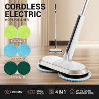4-in-1 Electric Cordless Mop Dry Wet Mopping Floor Polishing Waxing