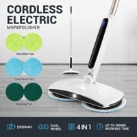 4-in-1 Electric Cordless Marble Wood Tile Floor Cleaner Polishing Waxing Cleaning Mop