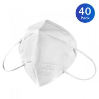 40 Pack KN95 Medical Face Mask Filter Particulate Bacteria Virus Disposable Dust Mask