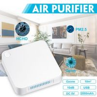 Portable Air Purifier Home Car Ozone , Carbon Filter Eliminates Smoke, Dust, Pollen  Bad Odors