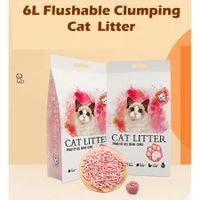 Cat Litter Unscented Lightweight  Clumping Tofu  6L - Peach
