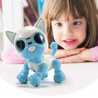 Robot Puppy Touch Sense Sound Recording LED Eyes Interactive Col. Sky Blue