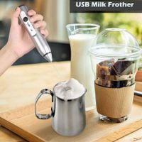 Milk Frother 3-Speed 8000/10000 /12000 RPM  Handheld USB Rechargeable Foam Maker Electric Frother with 2 Stainless Whisks Adjustable Durable Blender