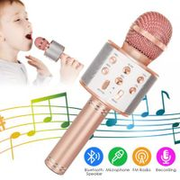 Bluetooth Karaoke Microphone Wireless Microphone Col.Rose Gold
