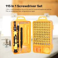 Striegel 115 In 1 Precision Screwdriver Kit Accessory Set CR-V Steel Mini DIY Hand Work Repair Tools for iPhone Laptop PC Watch