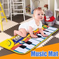 Piano Keyboard Music Learn Singing Gym Carpet Touch Play Mats Blanket