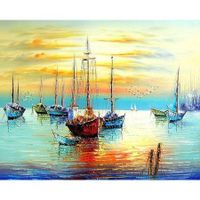 Paint by Numbers, Canvas Oil Painting Kit  40 x 50cm  with Inner Frame # 6