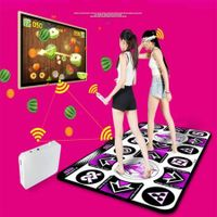 Wireless Double Dancing Mat Pad 2 Remote Controllers Fitness Body Building Dancing Mat