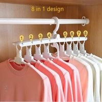 8in1 Foldable Multifunctional Travel Clothes Hanger -White