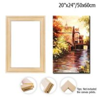 Wood Canvas Frame Kit DIY Canvas framm for Oil Painting,Art Stretcher Bars 50x60cm