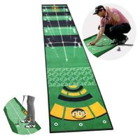 Golf Practice Putting Mat Golf Putting Trainer Anti-Slip Indoor 50x300cm