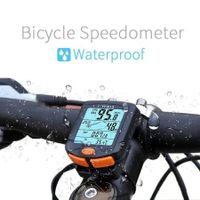 Waterproof Mountain Bike  LCD Display Digital Speedometer Odometer Code Table Backlight Cycling Speed Counter