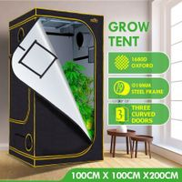 100x100x200cm Grow Tent Hydroponic Indoor Plant Growing Tent Reflective 1680D Oxford Fabric