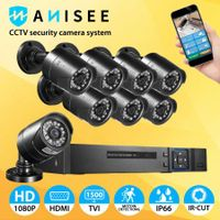 AHD CCTV Camera Home Security Surveillance System 8CH DVR 1080P Night Vision Motion Detection 8 Pack