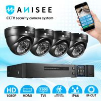 4 Pack CCTV AHD Home Security Camera Surveillance System 1080P 4CH DVR Motion Detection