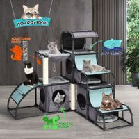 Petscene Multi-Level Cat Climbing Tower Kit Cat Tree Condo House Furniture Scratching Posts