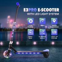2-Wheel Electric Kick-to-Start Scooter Motorised Scooter for Kids with LED Lights