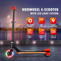 New 2-Wheel Electric Kids Scooter Kick Scooter with LED Light Up Deck Wheel Adjustable Height Rear Brake