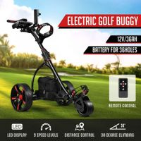 New Remote Control Golf Trolley 3 Distance Electric Foldable Golf Buggy Cart