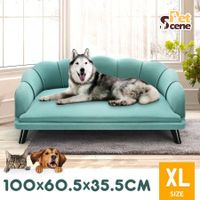 Petscene New Extra Large Raised Dog Bed Cushioned Sofa Pet Bed