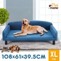 Petscene XL Dog Bed Luxury Pet Sofa Couch Soft Puppy Kitten Lounge Area