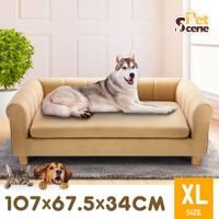 Petscene XL Size Pet Sofa Bed Couch Cushioned Soft Dog Bed for Dogs Cats