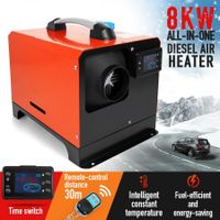 All in One 12V 8kW Diesel Air Heater Parking Heater w/ LCD Remote Control - Black & Red