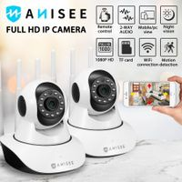 2-Pack 1080P WiFi Wireless PTZ IP Camera for Home Security Surveillance System w/ Motion Detection Remote Access 128GB