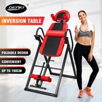 Genki Heavy Duty Folding Inversion Gravity Table 180-Degree Inversion Height Adjustable