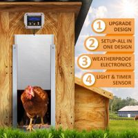 Petscene Automatic Chicken Coop Door Opener Controller Kit Timer Light Sensor