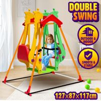 Double Swing Set Swing Seat Rocking Chair for Indoor Garden Playground