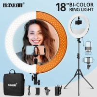"240 LED Dimmable LED Ring Light 18"" 5500K for Makeup Selfie Photography Live Streaming"