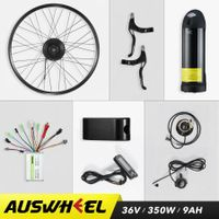 "Electric Bike Conversion Kit with Battery 350W Brushless Motor 26"" Rear Wheel"