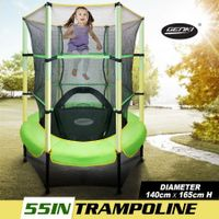 "Genki 55"" Kids Trampoline with Safety Enclosure Net"