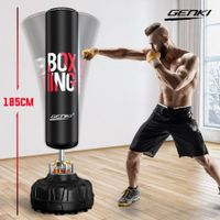 Genki 185cm Hydraulic Gym Punching Bag Freestanding Heavy Boxing Kicking Bag MMA