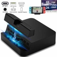 Nitendo Switch Console HDMI TV Convert Stand HDMI with Extra USB 3.0 Port (Upgraded Version)